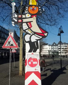 Kölner Karnevalsschild