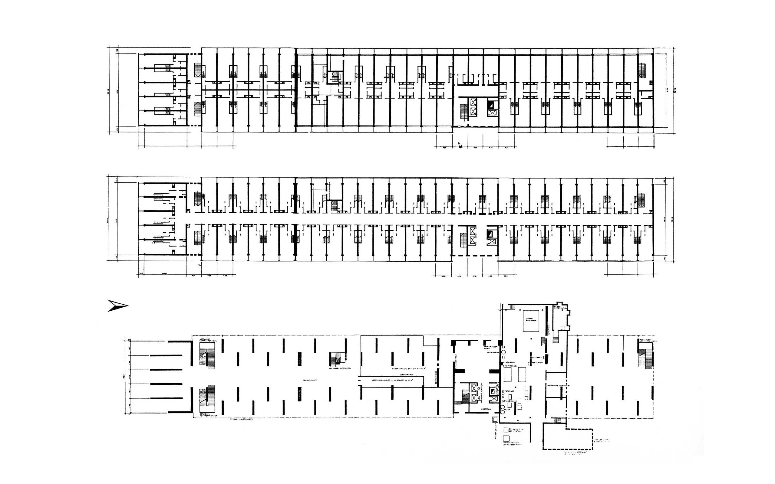 Le Corbusier Unite D Habitation flatowallee 16 unité d'habitation typ berlin le corbusier